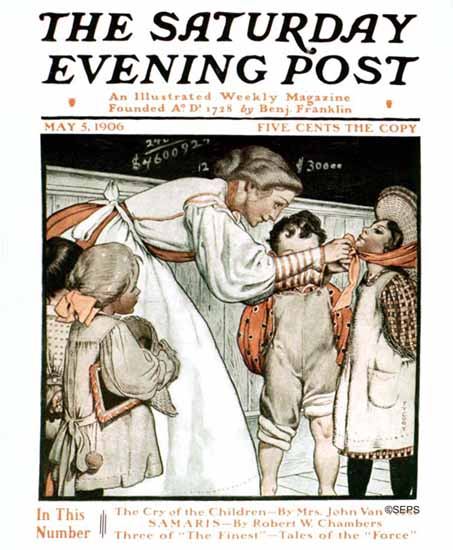WomenArt Fanny Young Cory Saturday Evening Post Cover Art 1906_05_05 | 69 Women Cover Artists and 826 Covers 1902-1970