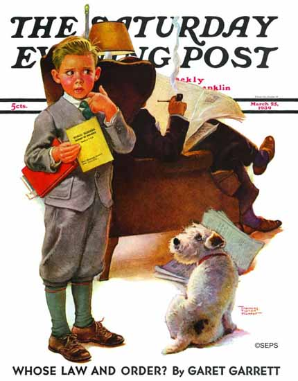WomenArt Frances Tipton Hunter Saturday Evening Post 1939_03_25 | 69 Women Cover Artists and 826 Covers 1902-1970