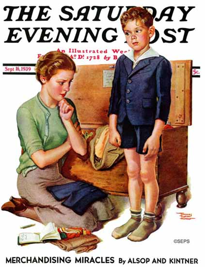 WomenArt Frances Tipton Hunter Saturday Evening Post 1939_09_16 | 69 Women Cover Artists and 826 Covers 1902-1970