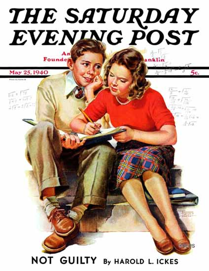 WomenArt Frances Tipton Hunter Saturday Evening Post 1940_05_25 | 69 Women Cover Artists and 826 Covers 1902-1970