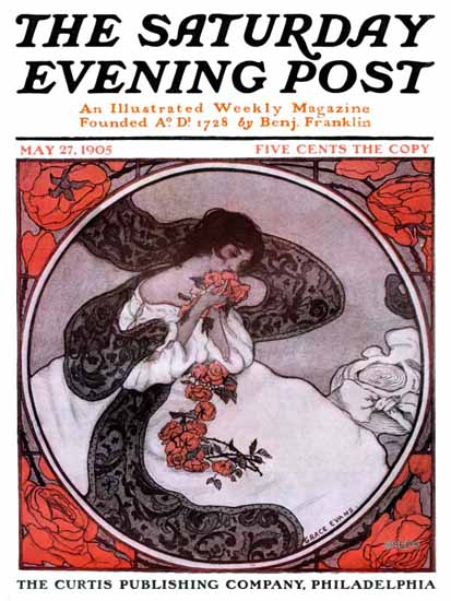 WomenArt Grace Evans Saturday Evening Post Cover Art 1905_05_27 | 69 Women Cover Artists and 826 Covers 1902-1970