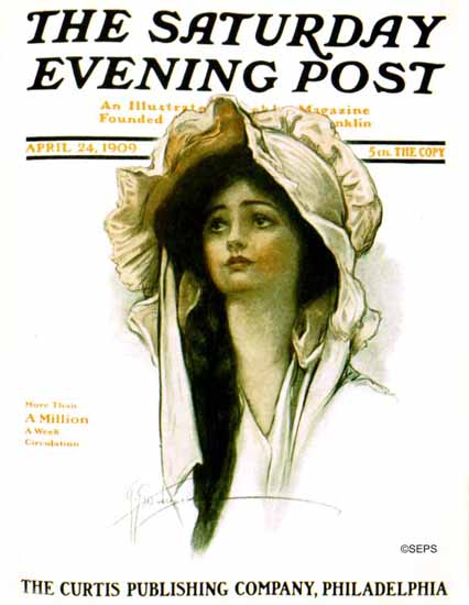 WomenArt Grace Gebbie Wiederseim Saturday Evening Post 1909_04_24 | 69 Women Cover Artists and 826 Covers 1902-1970