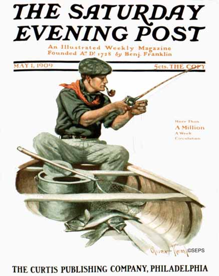 WomenArt Grace Gebbie Wiederseim Saturday Evening Post 1909_05_01 | 69 Women Cover Artists and 826 Covers 1902-1970