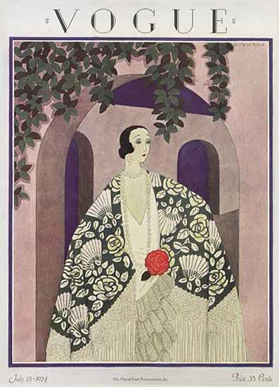 WomenArt Harriet Meserole Vogue Cover 1924-07-15 Copyright | 69 Women Cover Artists and 826 Covers 1902-1970