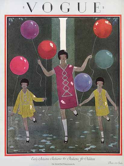 WomenArt Harriet Meserole Vogue Cover 1924-08-15 Copyright | 69 Women Cover Artists and 826 Covers 1902-1970