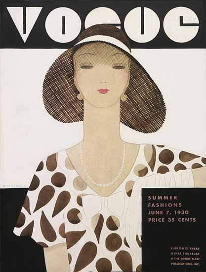 WomenArt Harriet Meserole Vogue Cover 1930-06-07 Copyright | 69 Women Cover Artists and 826 Covers 1902-1970
