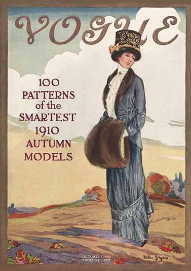 WomenArt Helen Dryden Vogue Cover 1910-10-01 Copyright | 69 Women Cover Artists and 826 Covers 1902-1970