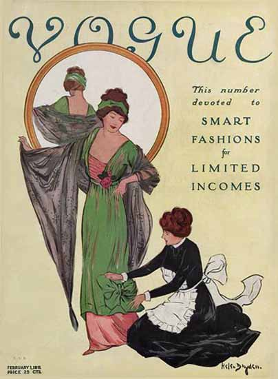 WomenArt Helen Dryden Vogue Cover 1911-02-01 Copyright | 69 Women Cover Artists and 826 Covers 1902-1970