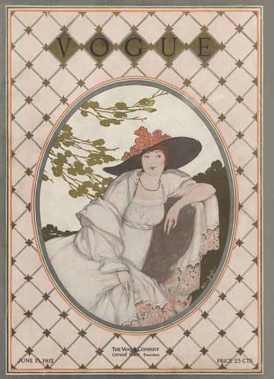 WomenArt Helen Dryden Vogue Cover 1912-06-15 Copyright | 69 Women Cover Artists and 826 Covers 1902-1970