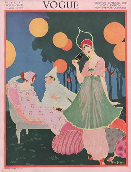 WomenArt Helen Dryden Vogue Cover 1913-07-01 Copyright | 69 Women Cover Artists and 826 Covers 1902-1970