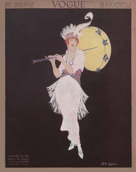 WomenArt Helen Dryden Vogue Cover 1914-01-15 Copyright | 69 Women Cover Artists and 826 Covers 1902-1970