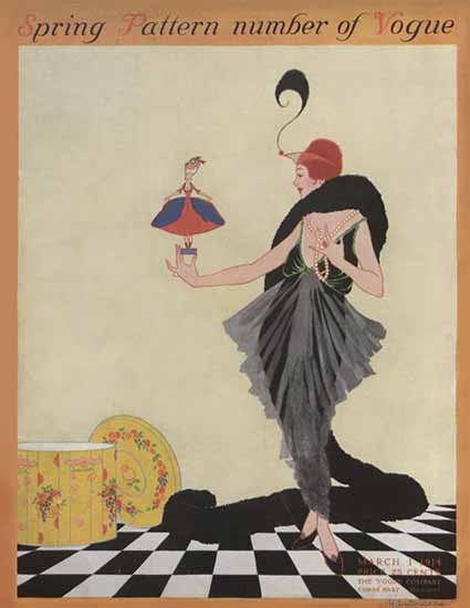 WomenArt Helen Dryden Vogue Cover 1914-03-01 Copyright | 69 Women Cover Artists and 826 Covers 1902-1970