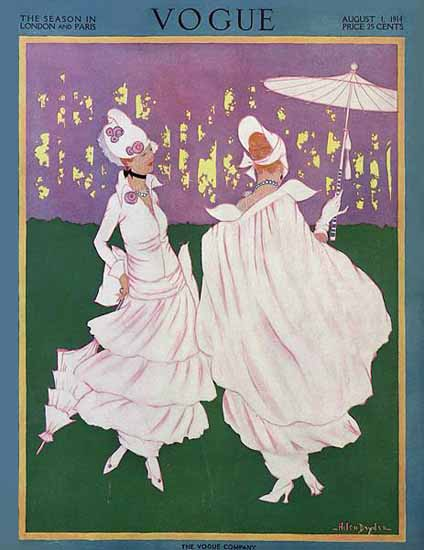 WomenArt Helen Dryden Vogue Cover 1914-08-01 Copyright | 69 Women Cover Artists and 826 Covers 1902-1970