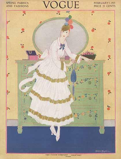 WomenArt Helen Dryden Vogue Cover 1915-02-01 Copyright | 69 Women Cover Artists and 826 Covers 1902-1970