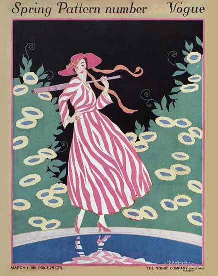 WomenArt Helen Dryden Vogue Cover 1915-03-01 Copyright | 69 Women Cover Artists and 826 Covers 1902-1970