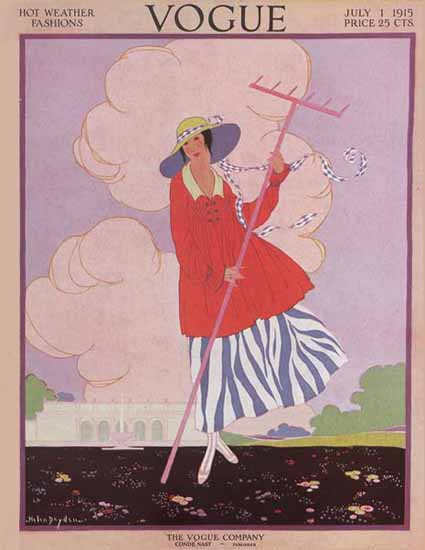 WomenArt Helen Dryden Vogue Cover 1915-07-01 Copyright | 69 Women Cover Artists and 826 Covers 1902-1970