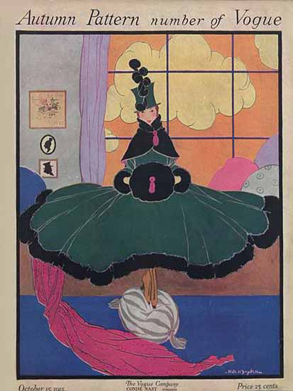 WomenArt Helen Dryden Vogue Cover 1915-10-15 Copyright | 69 Women Cover Artists and 826 Covers 1902-1970