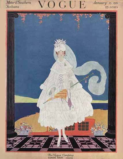 WomenArt Helen Dryden Vogue Cover 1916-01-15 Copyright | 69 Women Cover Artists and 826 Covers 1902-1970