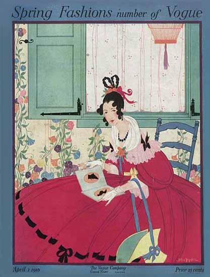 WomenArt Helen Dryden Vogue Cover 1916-04-01 Copyright | 69 Women Cover Artists and 826 Covers 1902-1970
