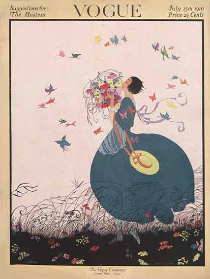 WomenArt Helen Dryden Vogue Cover 1916-07-15 Copyright | 69 Women Cover Artists and 826 Covers 1902-1970