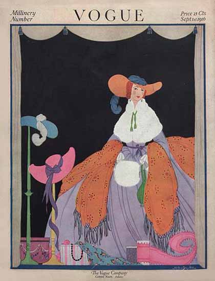 WomenArt Helen Dryden Vogue Cover 1916-09-01 Copyright | 69 Women Cover Artists and 826 Covers 1902-1970