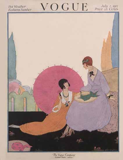 WomenArt Helen Dryden Vogue Cover 1917-07-01 Copyright | 69 Women Cover Artists and 826 Covers 1902-1970