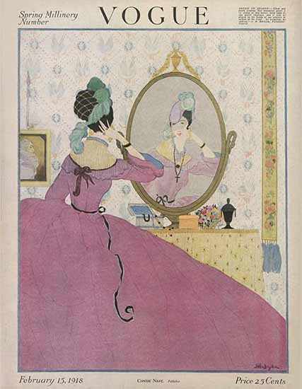 WomenArt Helen Dryden Vogue Cover 1918-02-15 Copyright | 69 Women Cover Artists and 826 Covers 1902-1970