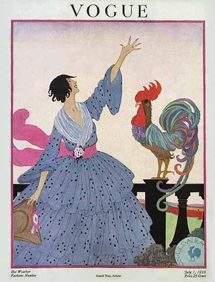 WomenArt Helen Dryden Vogue Cover 1918-07-01 Copyright | 69 Women Cover Artists and 826 Covers 1902-1970