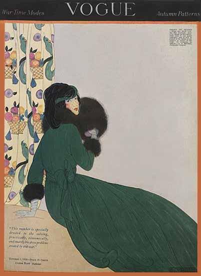 WomenArt Helen Dryden Vogue Cover 1918-10-01 Copyright | 69 Women Cover Artists and 826 Covers 1902-1970