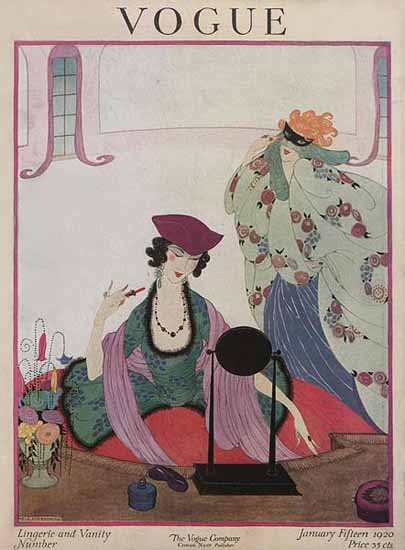 WomenArt Helen Dryden Vogue Cover 1920-01-15 Copyright | 69 Women Cover Artists and 826 Covers 1902-1970