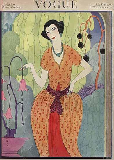 WomenArt Helen Dryden Vogue Cover 1920-07-01 Copyright | 69 Women Cover Artists and 826 Covers 1902-1970
