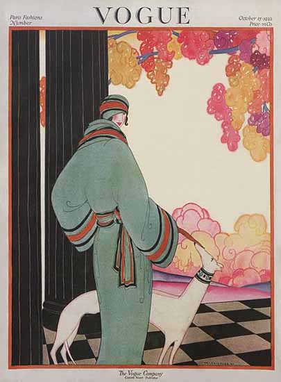 WomenArt Helen Dryden Vogue Cover 1922-10-15 Copyright | 69 Women Cover Artists and 826 Covers 1902-1970