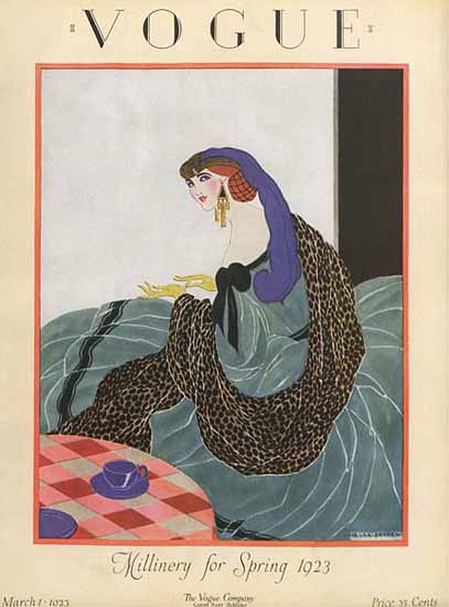 WomenArt Helen Dryden Vogue Cover 1923-03-01 Copyright | 69 Women Cover Artists and 826 Covers 1902-1970