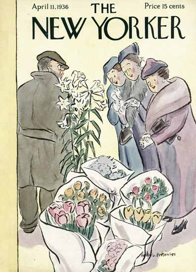 WomenArt Helen E Hokinson The New Yorker 1936_04_11 Copyright | 69 Women Cover Artists and 826 Covers 1902-1970