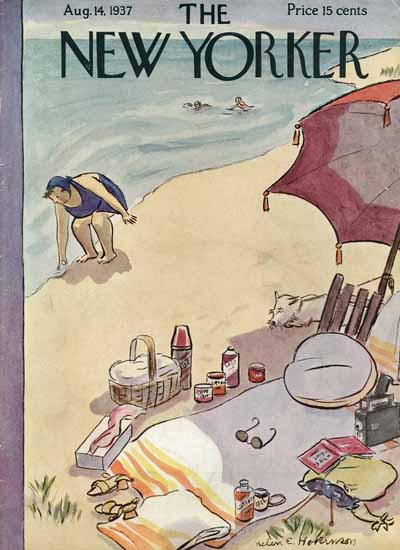 WomenArt Helen E Hokinson The New Yorker 1937_08_14 Copyright | 69 Women Cover Artists and 826 Covers 1902-1970