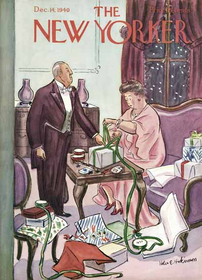 WomenArt Helen E Hokinson The New Yorker 1940_12_14 Copyright | 69 Women Cover Artists and 826 Covers 1902-1970