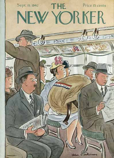 WomenArt Helen E Hokinson The New Yorker 1942_09_19 Copyright | 69 Women Cover Artists and 826 Covers 1902-1970