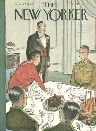 WomenArt Helen E Hokinson The New Yorker 1943_11_27 Copyright | 69 Women Cover Artists and 826 Covers 1902-1970
