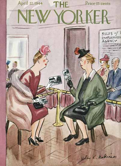 WomenArt Helen E Hokinson The New Yorker 1944_04_22 Copyright | 69 Women Cover Artists and 826 Covers 1902-1970
