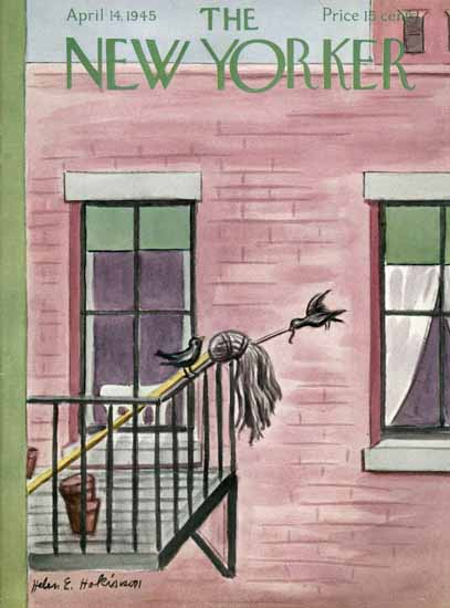 WomenArt Helen E Hokinson The New Yorker 1945_04_14 Copyright | 69 Women Cover Artists and 826 Covers 1902-1970