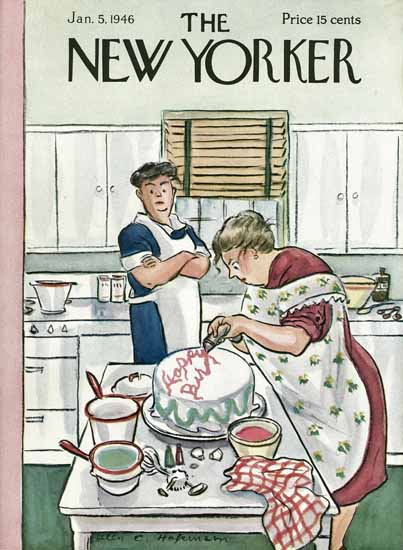 WomenArt Helen E Hokinson The New Yorker 1946_01_05 Copyright | 69 Women Cover Artists and 826 Covers 1902-1970