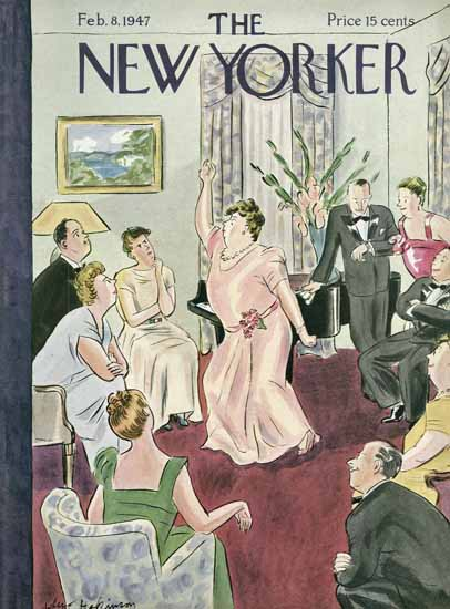 WomenArt Helen E Hokinson The New Yorker 1947_02_08 Copyright | 69 Women Cover Artists and 826 Covers 1902-1970