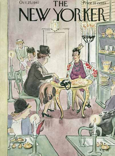 WomenArt Helen E Hokinson The New Yorker 1947_10_25 Copyright | 69 Women Cover Artists and 826 Covers 1902-1970