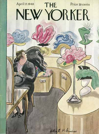 WomenArt Helen E Hokinson The New Yorker 1948_04_17 Copyright | 69 Women Cover Artists and 826 Covers 1902-1970