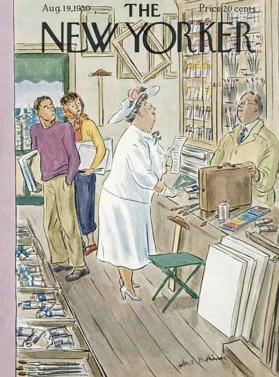 WomenArt Helen E Hokinson The New Yorker 1950_08_19 Copyright | 69 Women Cover Artists and 826 Covers 1902-1970