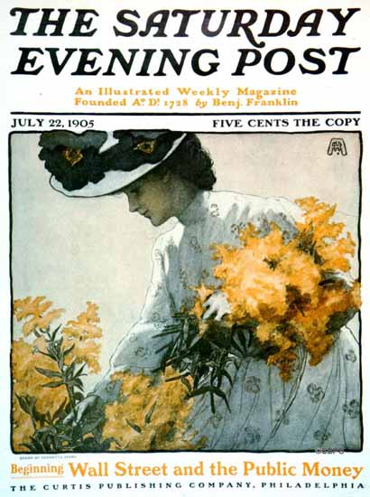 WomenArt Henrietta Adams Saturday Evening Post Wallstreet 1905_07_22 | 69 Women Cover Artists and 826 Covers 1902-1970