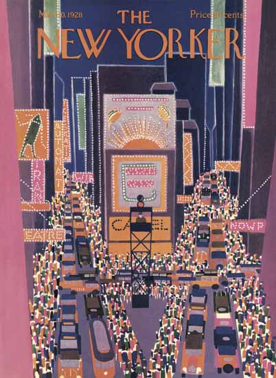 WomenArt Ilonka Karasz Cover The New Yorker 1928_03_10 Copyright | 69 Women Cover Artists and 826 Covers 1902-1970