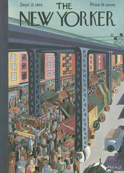 WomenArt Ilonka Karasz Cover The New Yorker 1935_09_21 Copyright | 69 Women Cover Artists and 826 Covers 1902-1970