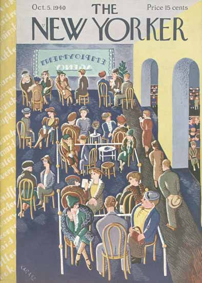 WomenArt Ilonka Karasz Cover The New Yorker 1940_10_05 Copyright | 69 Women Cover Artists and 826 Covers 1902-1970