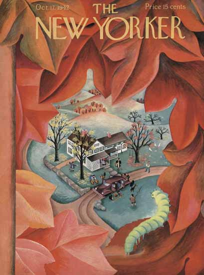 WomenArt Ilonka Karasz Cover The New Yorker 1942_10_17 Copyright | 69 Women Cover Artists and 826 Covers 1902-1970